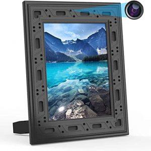 מסגרת של תמונה שהיא מצלמת ריגול על בסיס WiFi עם ראיית לילה וחיישן תנועה
