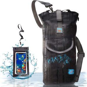 תרמיל עמיד למים לקיאקים, שייט ודיג + קייס עמיד במים לסמארטפון